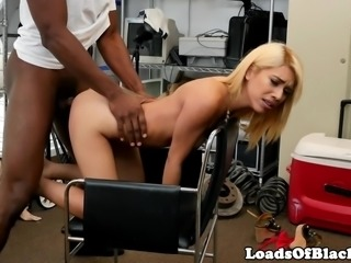 Petite amateur screwed by black agent