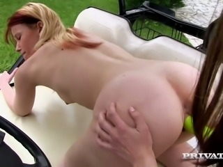 Two perverted girlfriends examine each others twats with fingers and sex toys