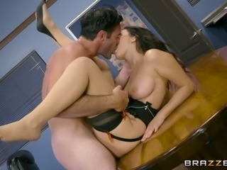 Mesmerizing Valentina Nappi never refuses to have sex at the office