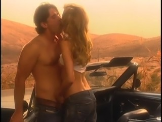 Taken to the desert and seduced into sucking and fucking his fat cock