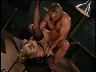 Teacher in glasses pounded hardcore till getting facial cumshot