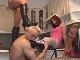 3 young woman femdom the old guy