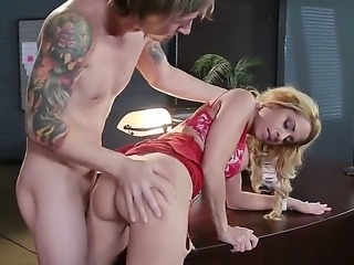 Alyssa Lynn was a bad office lady and Chad Alva wants to fuck her to punish...