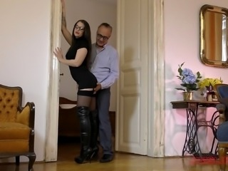 Nerdy Angelina Brill is still one of the best cock riders ever!