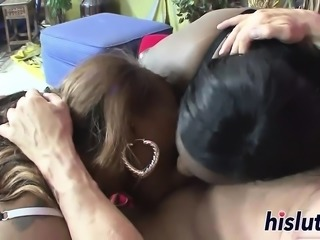 Fat ebony bitches get their twats drilled