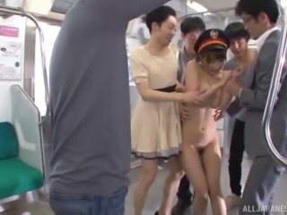 Sexy Ayami Shunka giving cocks blowjob in public bus