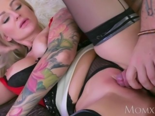 MOM My brother s horny blonde big boobs wife sucked and fucked me