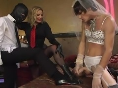 He's a loser boy who is used as a cuckold by the hot mistress. How...
