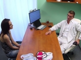 Doctor fucks student on practice in his office