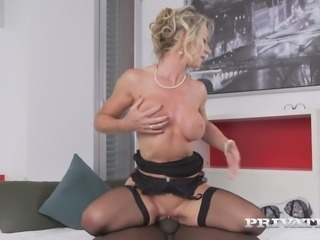 Elegant MILF Marina Beaulieu fucks passionately in steamy interracial video