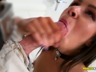 Sluttishly looking chick Taylor Reed is fucked hard by one raunchy dude