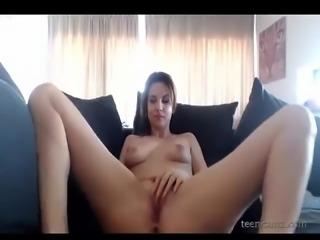 This cutiepie masturbates just for you in front of her cam