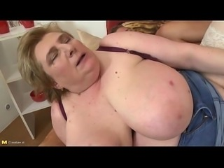 Busty blonde mature fucking young son at sensualchicks.com