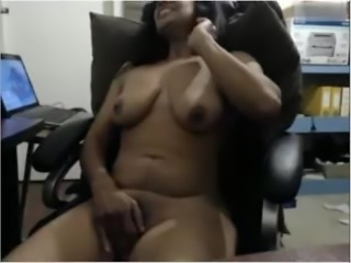 Indian Cougar On Cam Masturbating On Chair Part-1