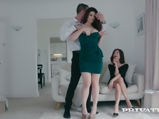 Lucia Love fucks married man while his wife is watching