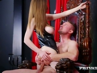 King and two servants fuck whore with huge boobs Stella Cox