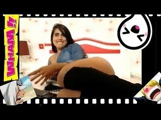 Sexy big latina por la webcam