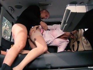 Randy business chick is happy to be seduced by a handsome stallion
