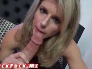 Anal Mom Blonde Milf Fucked blowjob POV Cum in mouth under the shower