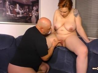 HausFrau Ficken - Mature German BBW housewife gets cum in mouth in hot sex...