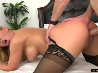 Horny guy fucked yummy blond mommy Romeo Price tough and deserved steamy rimjob