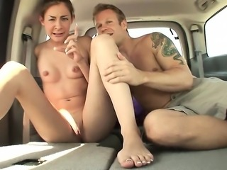 Guy picks up slut from the street to fuck in his car