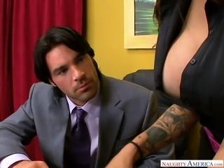 Hot tempered boss fucks nasty twat of super sexy secretary Adrenalynn