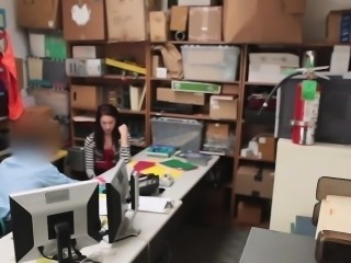Shoplifter gets fucked in the private investigators office