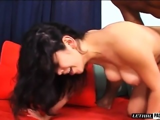 Busty Evie invites the baseball coach for an exciting sex adventure