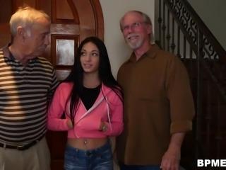 Old Man Fucks Petite Teen Crystal Rae