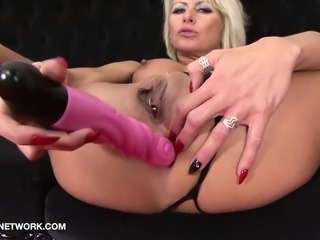 Interracial Threesome Mature Blonde Double Penetration Fuck
