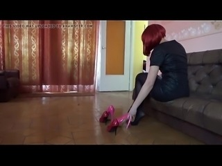 New high heels unboxing second angle view more PornWebCamZ.com