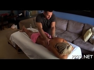 Pussy drilling with breasty chick