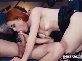 Private.com - Ella Hughes, Cum in Her Hairy Pussy