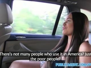 PublicAgent Big tits American fucks in public