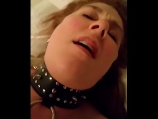 Nasty slut wife swallows cum