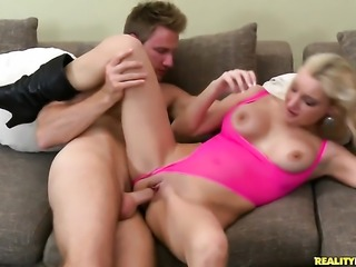 Levi Cash loves irresistibly sexy Michelles amazing body and bangs her mouth...