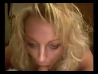 real amateur cougar Erin blows my dick very deep till facial