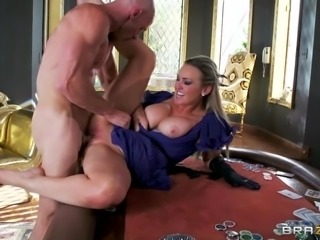 Hot blonde milf Abbey loves getting stuffed with a big hard cock. She's bent...