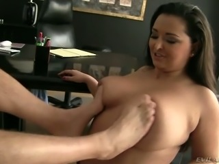 BBw slut with juicy jugs is screwed deep in her ass hole doggy style