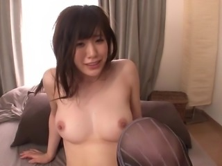 Chubby Emi Hoshii loves when men have fun with her private parts