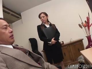 Submissive Office Slut Pleasing Her Boss
