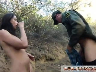 Cop car and mouth fuck Mexican border patrol agent has his o