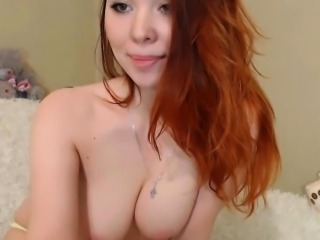 Beautiful Redhead With Big Tits Display