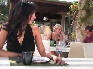 Juicy Ash Hollywood And Diana Prince Go Hardcore In A Threesome