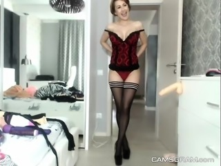 Amazing Skinny Camgirl Awesome Cam Show