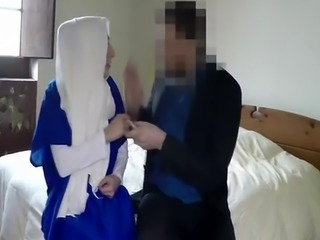 Pretty Arab Babe Gets Mouth And Pussy Filled