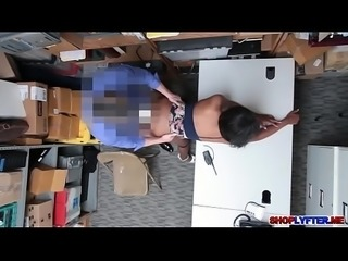 Black babe Daya Knight gets a hot sex for stealing