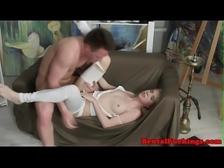 Groped stepsister roughly fucked and slapped