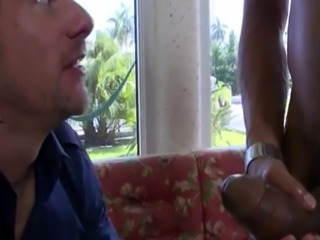 Moaning and stroking my big black dick gay first time Hey